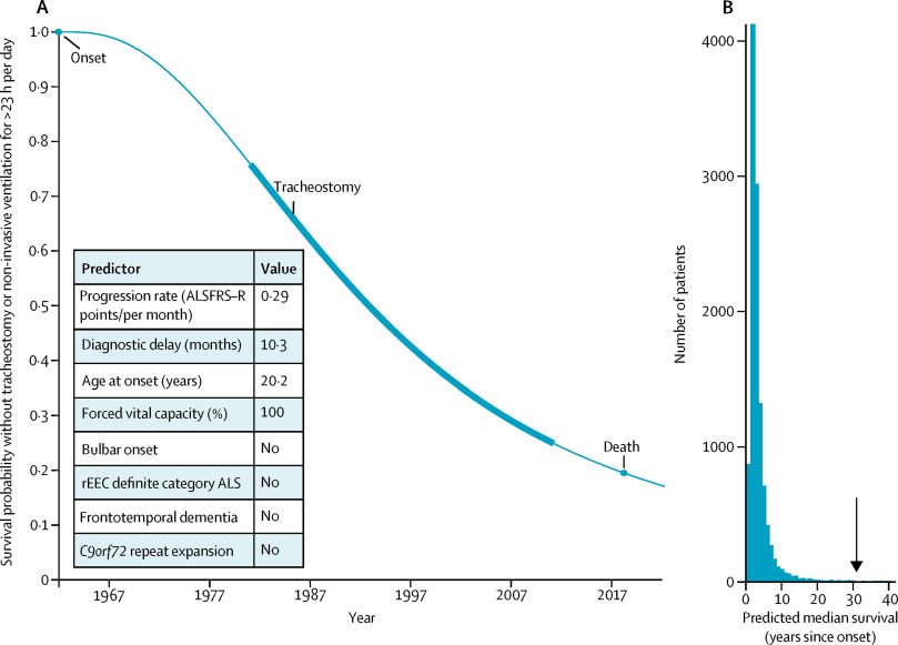 Personalised survival curve